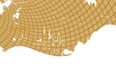 Vector bruin grungemalplaatje Stock Afbeelding