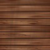 Vector bruine houten lege achtergrond Stock Afbeelding