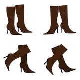 Vector bruine laarzen Stock Afbeelding