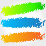 Vector brush banners Royalty Free Stock Photos
