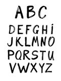 Vector brush line alphabet. Royalty Free Stock Photo