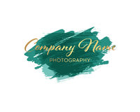Vector brush logo design template for Corporate, Media, Technology style. Stock Images