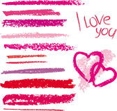 Vector brush made by line lipstick Royalty Free Stock Images