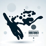 Vector brush painted ink blob, eps8 smudge background. Web Royalty Free Stock Photos