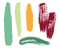 Vector brush set. Collection of different  brushes Royalty Free Stock Image