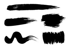 Vector brush set royalty free illustration