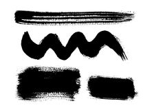 Vector brush set Stock Photos
