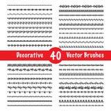 Vector Brush Set Stock Photo