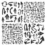 Vector brush stroke ARROW collection Royalty Free Stock Image