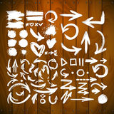 Vector brush stroke ARROW collection Royalty Free Stock Images