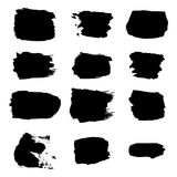Vector brush stroke paint abstract on white background set hand Stock Photography