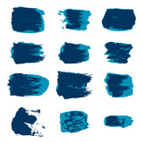 Vector brush stroke paint abstract on white background set hand Stock Photo