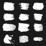 Vector brush stroke paint abstract on white background set hand Royalty Free Stock Image