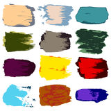 Vector brush stroke, stain paint acrylic, hand drawing abstract Royalty Free Stock Image