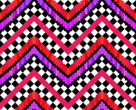 Vector Brush Strokes and Checkers Pattern Royalty Free Stock Photo