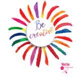 Vector brush strokes collection. Colorful vector watercolor brush strokes. Royalty Free Stock Photos