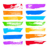 Vector brush strokes Stock Images