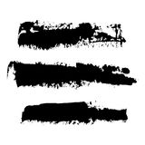 Vector brush strokes of paint 12. Realistic black vector brush strokes of paint on white background Royalty Free Stock Photography