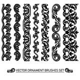 Vector brushes set Stock Images