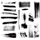 Vector brushstrokes collection Royalty Free Stock Photos