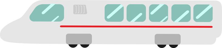 Vector BTS skytrain on a white background royalty free illustration