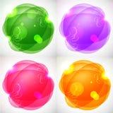 Vector Bubble Design. Colorful bubbles design in grunge vector illustration
