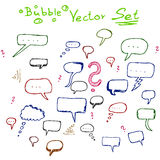 Vector bubble doodle set, sketch Royalty Free Stock Image