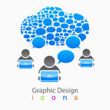 Vector bubble group of people social network logo Royalty Free Stock Photo