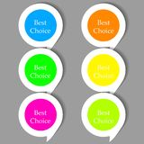Vector bubble speech stickers set Royalty Free Stock Photography
