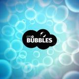 Vector bubbles background. Liquid stream. Foam illustration. Vector bubbles background. Liquid stream. Soap foam Stock Photo