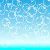 Vector Bubbles on Blue Background. Bubbles on Blue Background. Circle and liquid, light design. vector illustration Stock Photography