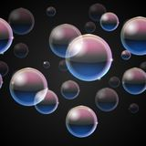Bubbles from bubble blower Stock Photos