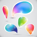 Vector bubbles for messages Royalty Free Stock Photo