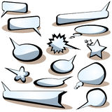 Vector bubbles for speech. EPS included Stock Photo