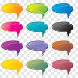 Vector bubbles for speech. Royalty Free Stock Photos