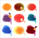 Vector bubbles for speech Royalty Free Stock Photos