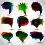 Vector bubbles for speech. The vector image vector bubbles for speech Royalty Free Stock Photos