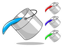 Vector bucket with paint Royalty Free Stock Photography