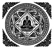 Vector of Buddha background Stock Photography