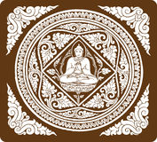 Vector of Buddha background Stock Image