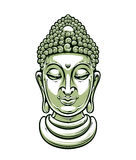 Vector buddha head Royalty Free Stock Photography