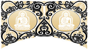 Vector Buddha patterns Royalty Free Stock Photography