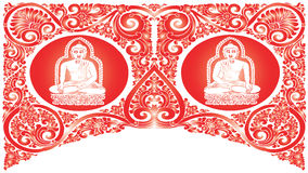 Vector Buddha patterns Stock Images