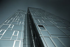 Vector building. Picture of modern building  the background of blue sky Stock Photo