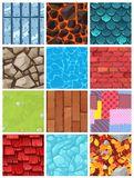 Vector building background wall texture architecture brickwall or stonewall with textured roofing tile and brickwork to. Build bricklaying and tiling roof royalty free illustration