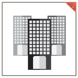 Vector building black set of graphical urban cityscape Stock Photo