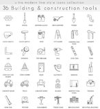 Vector Building Construction ultra modern outline line icons for web and apps. Stock Photos