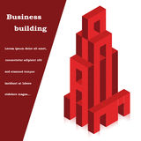 Vector building created cubes Stock Photo