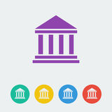 Vector building flat circle icon. File format eps 10 Stock Images