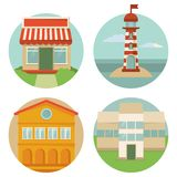 Vector building icons Stock Photography